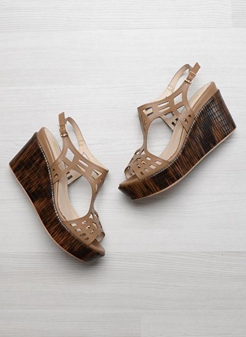 Bambi D0112660209 Vizon Kadın Sandalet
